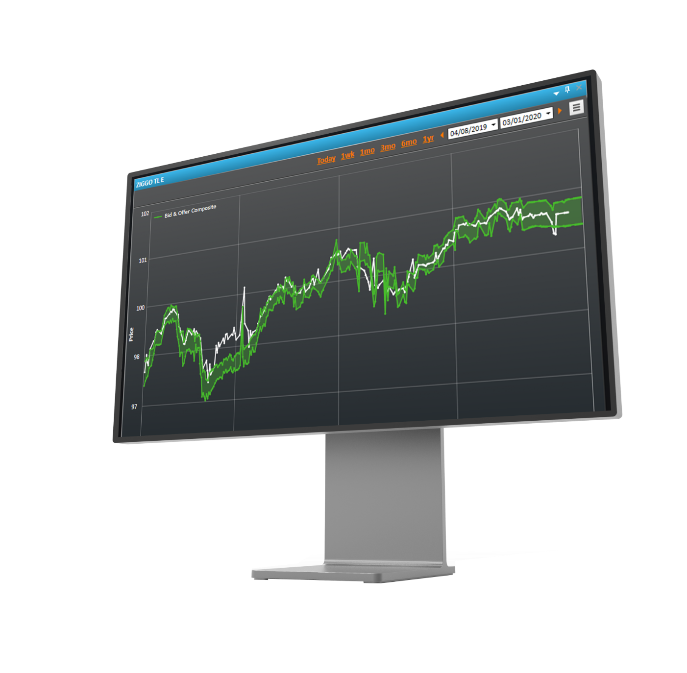 Monitor Green Graph